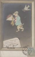 Illustrateur - Espinassey (?) - Animaux - Chien Fleur - Paillettes - Oblitération Valenciennes 1905 - Autres Illustrateurs