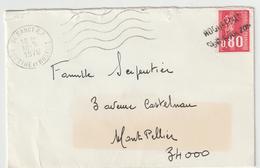 """Annulation Linéaire """"Roquefort Sur Soulzon"""" (Aveyron/ESC De Nancy -> Montpellier 1976 - Postmark Collection (Covers)"""