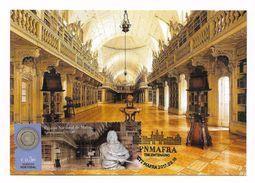 Portugal Carte Maximum Palais Et Couvent De Mafra Bibliothèque Palais Nationaux 2017 Mafra Palace Library Maxicard - Monumenti