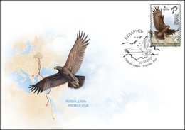 TH Belarus 2019 Bird Of Year Great Spotted Eagle Birds Fauna FDC - Vogels