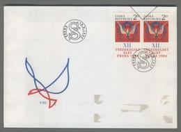 C4211 Ceska Republika FDC 1994 XII VSESOKOLSKY SLET PRAHA 1994 2 KC VG - FDC