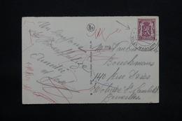 """BELGIQUE - Oblitération """" Houfflize Ville Martyr """" En 1950 Sur Carte Postale Pour Bruxelles - L 25160 - Belgium"""