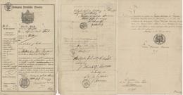 Passeport Reiße - Paß Arnsberg 1845 Papier Timbré Généalogie Carl TEICH Bochum Witten Héraldique - Documenti Storici