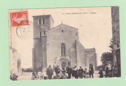 SAINT-MESMIN-LE-VIEUX  (Vendée)  L'  Eglise  En 1910  Extérieur  Animé - Autres Communes