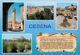 Cartolina Cesena 4 Vedute 3 Descrizione - Forlì