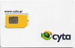 Greece - CYTA - White GSM SIM With Cyta Logo (Type 2), 2018 Issue, Mint - Greece