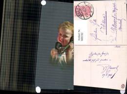 600192,Künstler Ak Telefon Bub Junge M. Hörer Pub Novolito - Sonstige