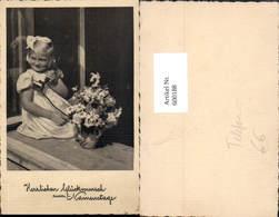 600188,Telefon Blondes Mädchen Sitzt M. Hörer A. Fenster Blumen Namenstag - Sonstige