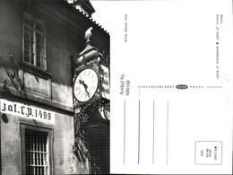 600168,Praha Prag Bierbrauerei U Flekü Uhr - Ansichtskarten