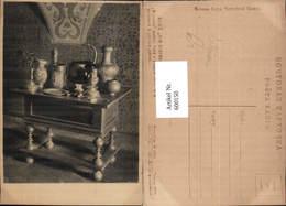 600150,Einrichtung Interieur Tisch M. Kelche Geschirr Krug Kerzenhalter Russland Russ - Ansichtskarten