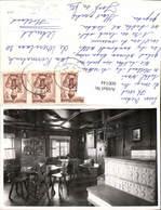600144,Foto Ak Einrichtung Interieur Ofen Bauernstube Holzdecke Stühle - Ansichtskarten