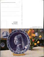 600143,Einrichtung Interieur Teller Porzellan Delft Ware Plate Representing Vermeer G - Ansichtskarten