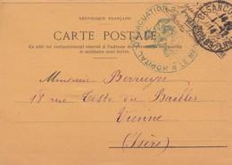 CARTE POSTALE. FRANCHISE MILITAIRE. 1914 HOPITAL D'EVACUATION BESANCON /  2 - Poststempel (Briefe)