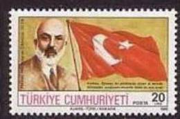 1986 TURKEY 50TH DEATH ANNIVERSARY OF MEHMET AKIF ERSOY MNH ** - Ongebruikt
