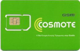 Greece - Cosmote Plain Green Type 2 GSM Sim, Mint - Greece