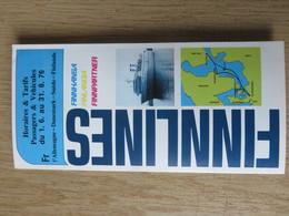 FINNLINES    Horaires Et Tarifs 1976 - Boats