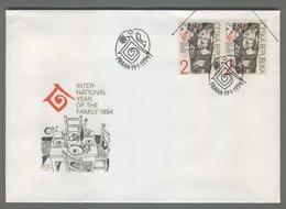 C4223 Ceska Republika FDC 1994 MEZINA RODNI ROK RODINY INTERNATIONAL YEAR OF FAMILY 2 KC - FDC