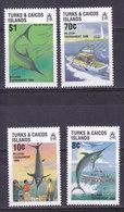 Iles TURQUES Et CAIQUES,   N°792/795 , 1988,cote 8.5€ , Peche Espadon ( W1903/099) - Turks & Caicos (I. Turques Et Caïques)