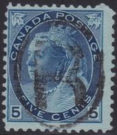 Canada  .  Scott     .    79        .      O    .  Cancelled  .   /    .  Gebruikt - 1851-1902 Regering Van Victoria