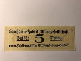 Allemagne Notgeld Magdeburg 5 Pfennig - Collections