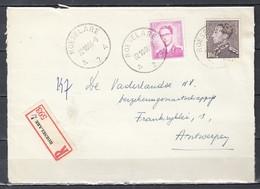 Aangetekend Briefstuk Van Roeselare A2A Naar Antwerpen - 1936-51 Poortman