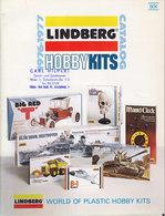 KAT224 Modellkatalog LINDBERG Hobby Kits 1976/77, A4-Format, 16 Seiten, Englisch - Littérature & DVD