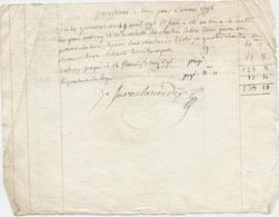 Orne,Argentan, Révolution, Vente Charretée Bois, Hêtre, Chêne, à Du Perron ,1796, An 10 - Documenti Storici