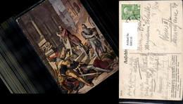 600110,Künstler Ak Schnorr Nibelungenlied Dietrich V. Bern Ringkampf Germanenkult - Märchen, Sagen & Legenden