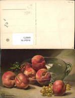 600073,Künstler Ak A. F. Brunnardel Stillleben Pfirsiche Obst Weintrauben Essen Trink - Recettes (cuisine)
