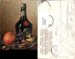600068,Künstler Ak M. Billing Stillleben Orange Bananen Obst Liqueur Likör Flasche Es - Recettes (cuisine)
