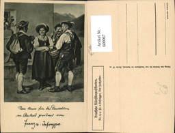600067,Künstler Ak Franz V.  Defregger Der Hochzeiter Rauchen Frau U.Männer Pfeife Ra - Ansichtskarten