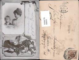 600033,Fotomontage Frau Bub Junge Stillleben M. Auerhahn Gewehr Jagd - Jagd