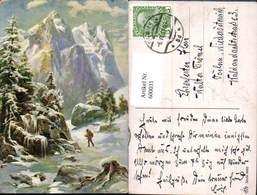 600031,Künstler Ak Jäger Winterlandschaft Jagd - Jagd