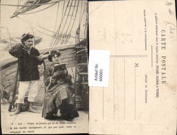 600001,Lesen Frau Liest Buch Matrose Schiffe - Ansichtskarten