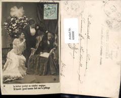 600000,Lesen Mann M. Frauen Zeitung - Ansichtskarten