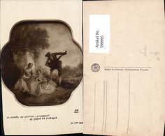 599995,Künstler Ak N. Lancret La Lecon De Musique Frauen Buch Lesen Musiker Mandoline - Ansichtskarten
