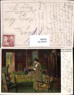 599984,Künstler Ak Kurt Von Rozynski Gute Nachricht Lesen Frau M. Brief - Ansichtskarten