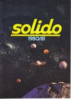 KAT226 Modellkatalog SOLIDO 1980/81, 3-sprachig, Neu - Littérature & DVD