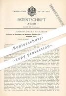 Original Patent - Andreas Daub , Pforzheim , 1893 , Nürnberger Scheren Für Armband , Schmuck , Kette , Ketten !!! - Historical Documents