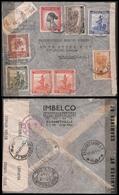 BELGIAN CONGO. 1944 (12 Sept). Eville - USA. Reg Air Multifkd Env. Dual Censored. - Non Classificati