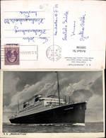599598,Schiff Hochseeschiff S. S. Manhattan United States Lines Stempel U.S.Ger.Sea P - Handel
