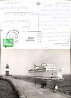599594,Foto Ak Schiff Hochseeschiff Rostock Warnemünde Fährschiff Warnemünde - Handel