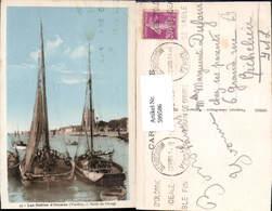 599586,Les Sables D Olonne Vendee Sortie Du Chenal Segelboote Segelschiffe - Segelboote