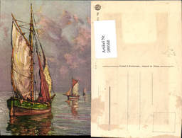 599568,Künstler Ak Andre Berunneau Segelschiffe Segelboote - Segelboote