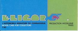KAT232 Modellbauprospekt ELICAR, Französisch, Neu - Littérature & DVD