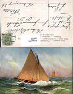599560,Künstler Ak Segelschiff Segelboot Stürmische See Pub Theo Stroefer 669 - Segelboote