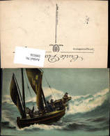 599556,Segelschiff Dans Les Brisants Segelboot Stürmische See - Segelboote
