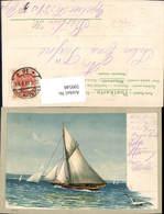 599548,Präge Litho Segelschiff Segelboote - Segelboote
