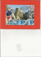 DOCUMENT  CARTE + TIMBRE + OBLITERATION THEME VELO CHAMPIONNATS DE FRANCE A BOULOGNE 2005 - Cyclisme