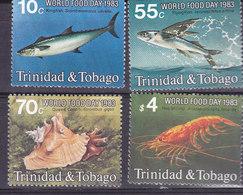 TRINITE Et TOBAGO,    N°479/482 , 1983,cote 12.50€ , Animaux Marins ( W1903/107) - Trinité & Tobago (1962-...)